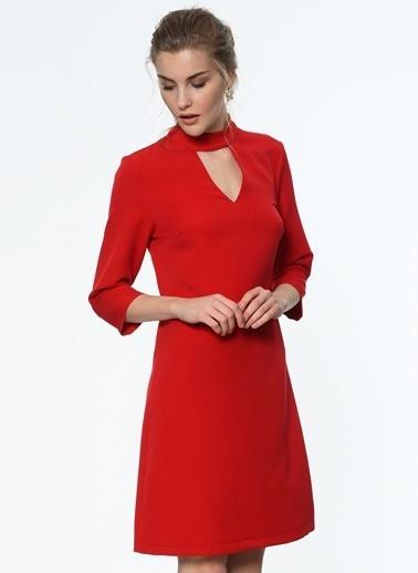 Fermuarlı Kısa Elbise-İroni